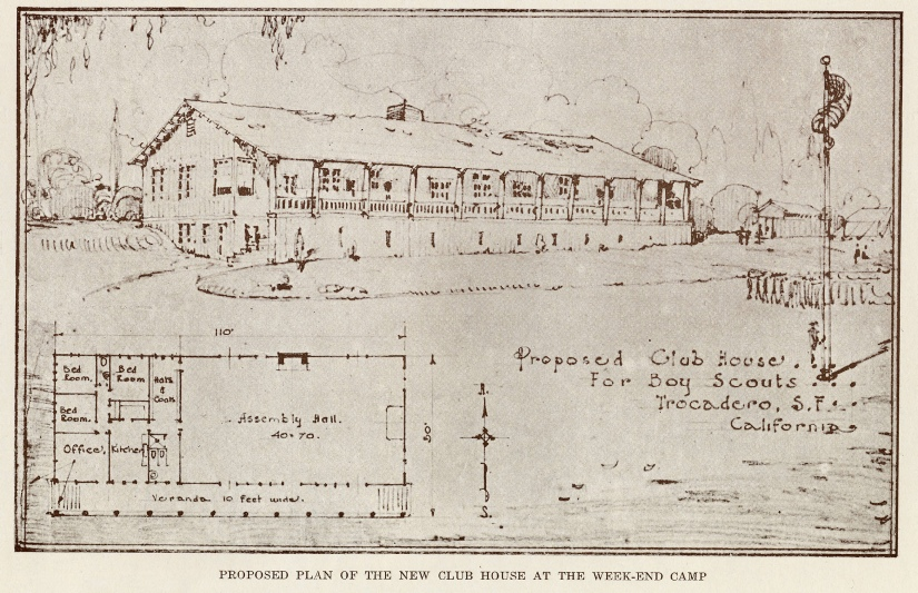 Concept Drawing for Clubhouse (c 1919)