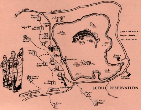 Camp Site Map, 1974