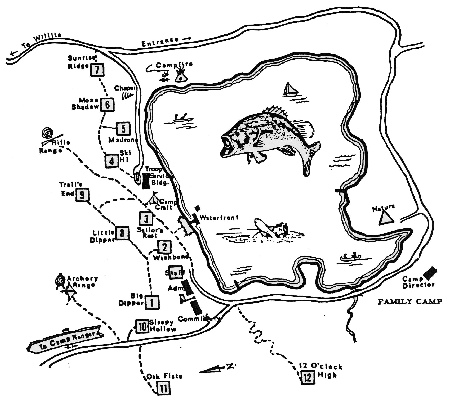 Camp Site Map, 1985